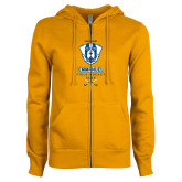 ENZA Ladies Gold Fleece Full Zip Hoodie-Emmanuel Field Hockey Club