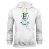 White Fleece Hoodie-Primary Logo