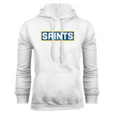 White Fleece Hoodie-Saints