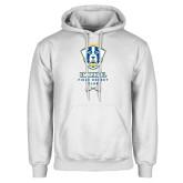 White Fleece Hoodie-Emmanuel Field Hockey Club