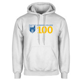 White Fleece Hoodie-Emmanuel College 100