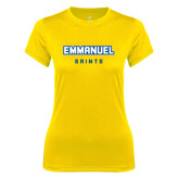 Ladies Syntrel Performance Gold Tee-Secondary Mark