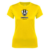 Ladies Syntrel Performance Gold Tee-Primary Logo