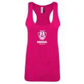 Next Level Ladies Raspberry Ideal Racerback Tank-Primary Logo