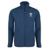 Navy Softshell Jacket-Primary Logo