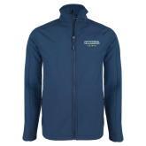 Navy Softshell Jacket-Secondary Mark