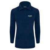 Columbia Ladies Half Zip Navy Fleece Jacket-Secondary Mark
