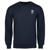 Navy Fleece Crew-Primary Logo