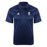 Adidas Climalite Navy Jaquard Select Polo-Primary Logo