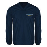 V Neck Navy Raglan Windshirt-Secondary Mark