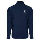 Sport Wick Stretch Navy 1/2 Zip Pullover-Primary Logo