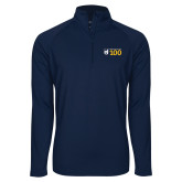 Sport Wick Stretch Navy 1/2 Zip Pullover-Emmanuel College 100