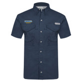 Columbia Tamiami Performance Navy Short Sleeve Shirt-Secondary Mark
