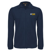 Fleece Full Zip Navy Jacket-Emmanuel College 100