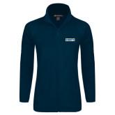 Ladies Fleece Full Zip Navy Jacket-Saints