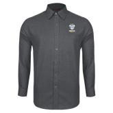 Red House Dark Charcoal Diamond Dobby Long Sleeve Shirt-Primary Logo