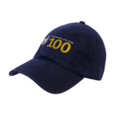 Navy Twill Unstructured Low Profile Hat-Emmanuel College 100