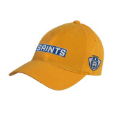 Gold Twill Unstructured Low Profile Hat-Saints