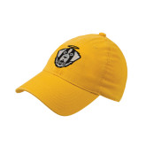 Gold Flexfit Mid Profile Hat-Tertiary Mark