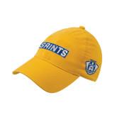 Gold Flexfit Mid Profile Hat-Saints
