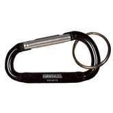 Black Carabiner with Split Ring-Secondary Mark Engraved