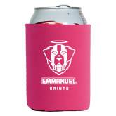 Collapsible Hot Pink Can Holder-Primary Logo