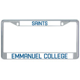 Metal License Plate Frame in Chrome-Mascot