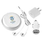 3 in 1 White Audio Travel Kit-Primary Logo