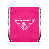 Pink Drawstring Backpack-Athletic Mark