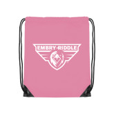Light Pink Drawstring Backpack-Athletic Mark