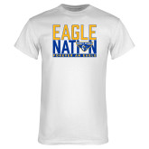 White T Shirt-Eagle Nation