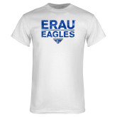 White T Shirt-ERAU Eagles