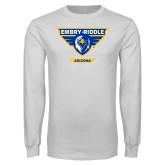 White Long Sleeve T Shirt-Athletic Mark - Arizona