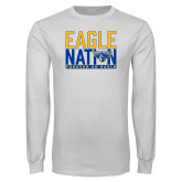 White Long Sleeve T Shirt-Eagle Nation