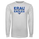 White Long Sleeve T Shirt-ERAU Eagles