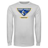 White Long Sleeve T Shirt-Wrestling