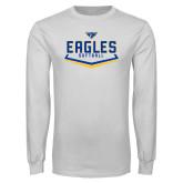 White Long Sleeve T Shirt-Softball Plate