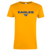 Ladies Gold T Shirt-Eagles