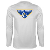 Performance White Longsleeve Shirt-Athletic Mark