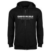 Black Fleece Full Zip Hoodie-University Mark