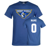 Royal T Shirt-Athletic Mark, Custom Tee w/ Name and #