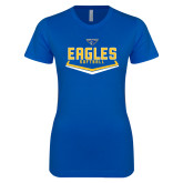 Next Level Ladies SoftStyle Junior Fitted Royal Tee-Softball Plate