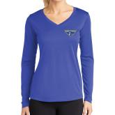 Ladies Syntrel Performance Royal Longsleeve Shirt-Athletic Mark