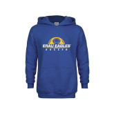 Youth Royal Fleece Hoodie-Soccer Half Ball