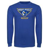 Royal Long Sleeve T Shirt-Athletic Mark - Arizona Distressed