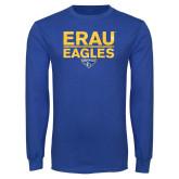 Royal Long Sleeve T Shirt-ERAU Eagles