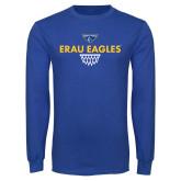 Royal Long Sleeve T Shirt-Basketball Sharp Net