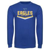 Royal Long Sleeve T Shirt-Softball Plate