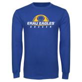 Royal Long Sleeve T Shirt-Soccer Half Ball