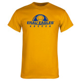 Gold T Shirt-Soccer Half Ball